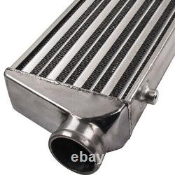 Universal Turbo Front Mount Aluminum Intercooler 27'' X 7'' X2.5'' 2.5 In/Outle
