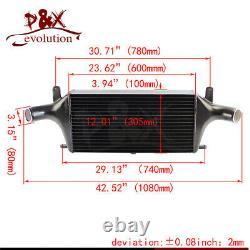 Upgrade Aluminum Front Mount Intercooler For Nissan Skyline R33 R34 GTR RB26DETT