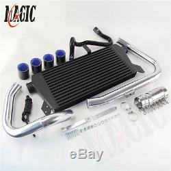 Upgrade Front Mount Intercooler Kit For 96-01 VW Passat Audi A4 B5 1.8T Black